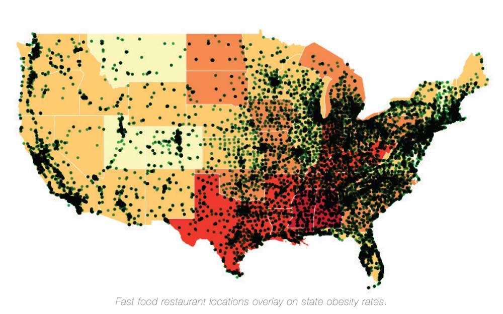 Mapping Fast Food And Obesity Guy Allen Parker