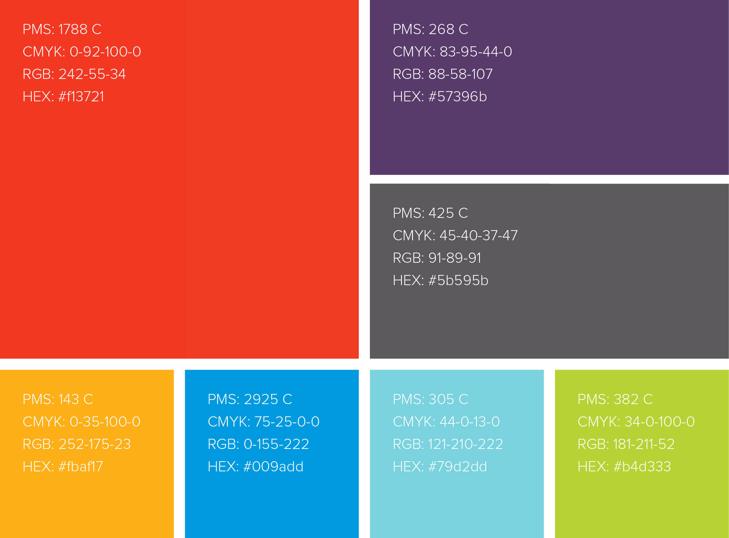 DC Blox color palette branding strategy
