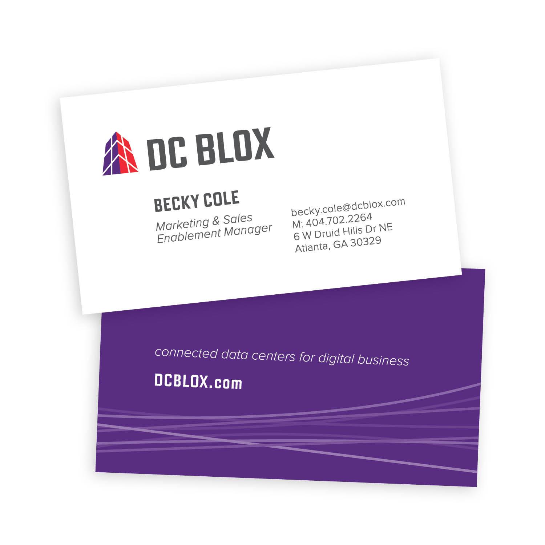 DC Blox business cards branding identity