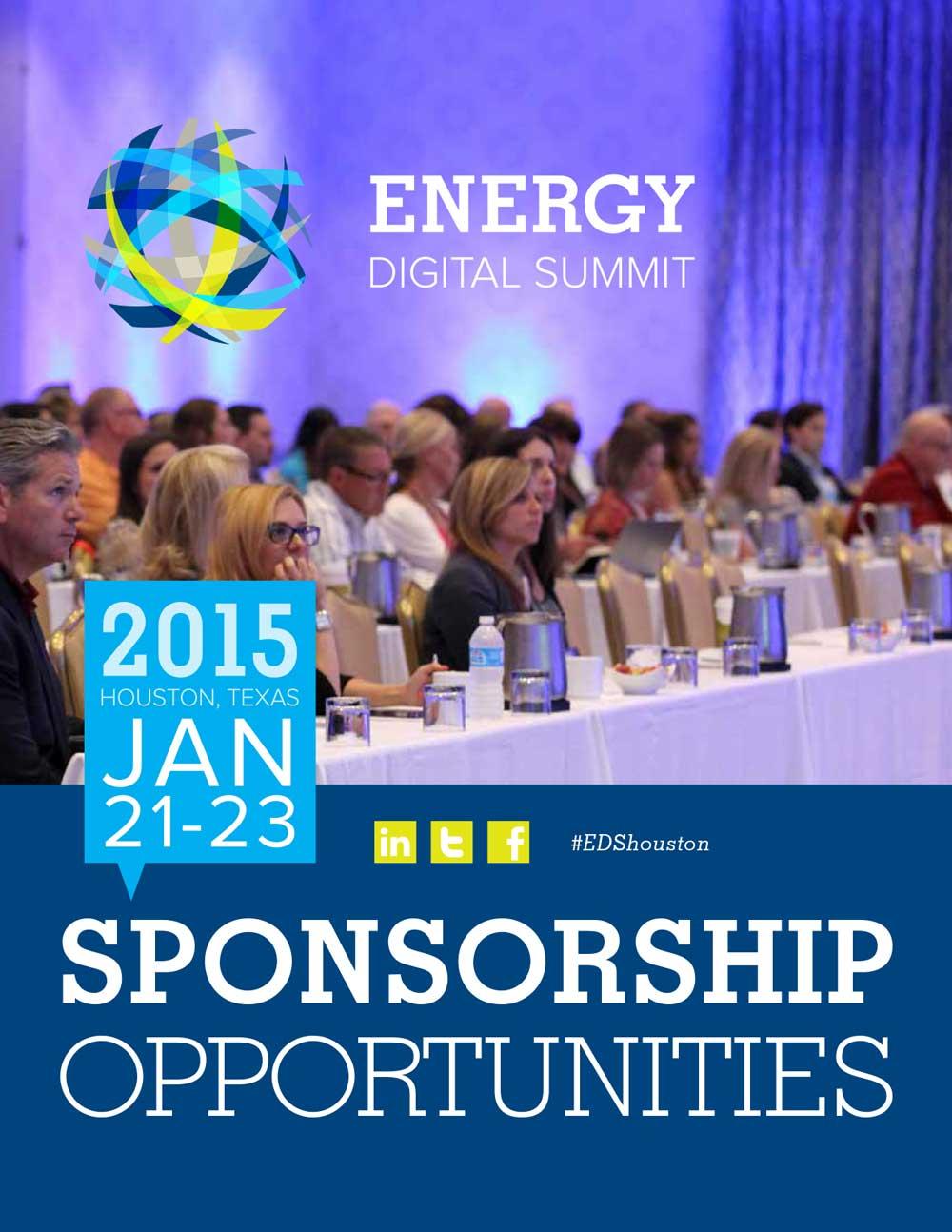 Energy Digital Summit sponsorship brochure collateral