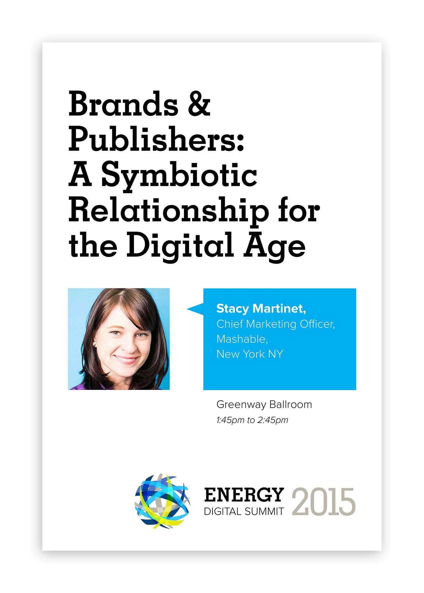 Energy Digital Summit branding speaker boards