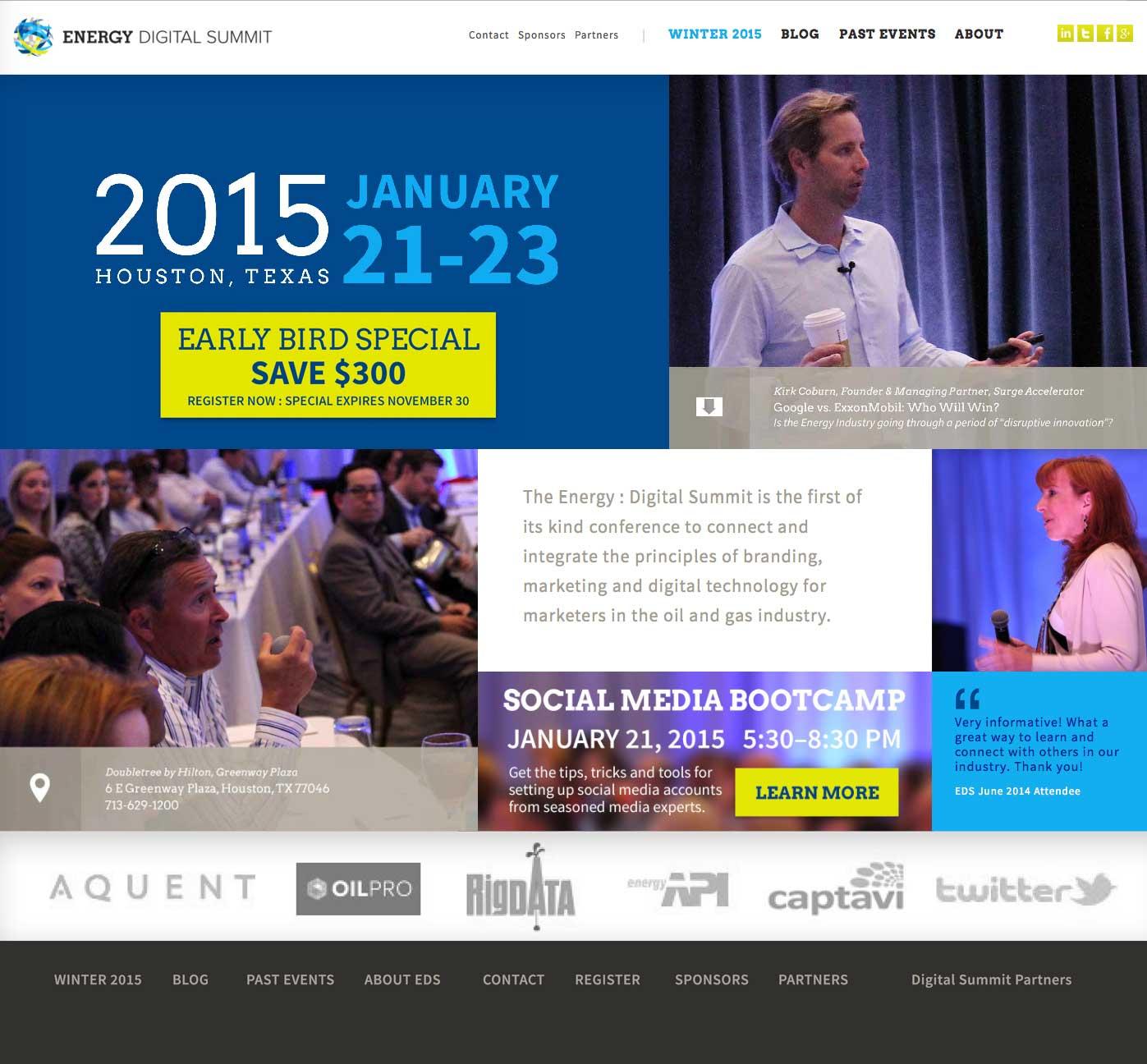 Energy Digital Summit website home page