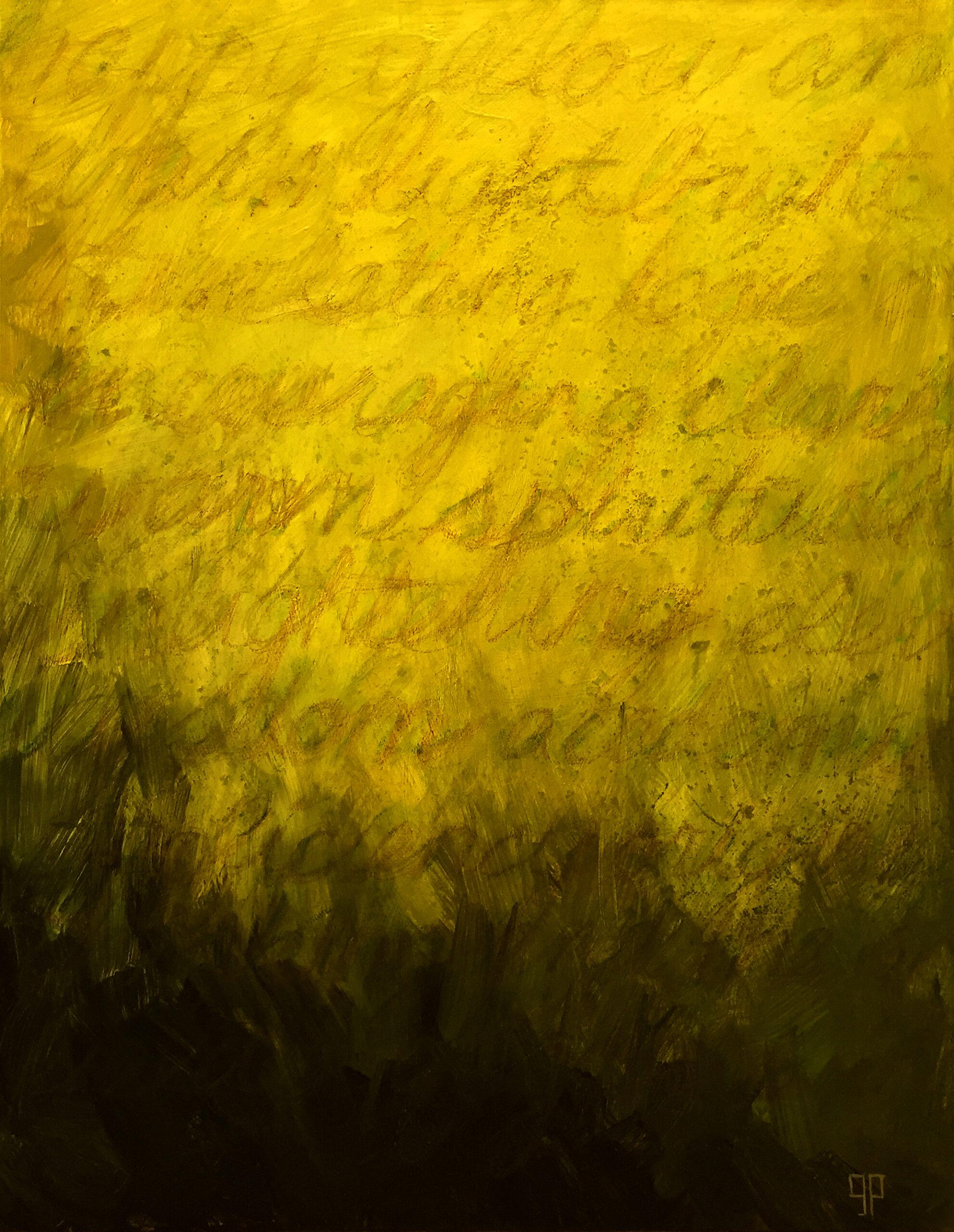"""Yellow"" acrylic on canvas 16x20"