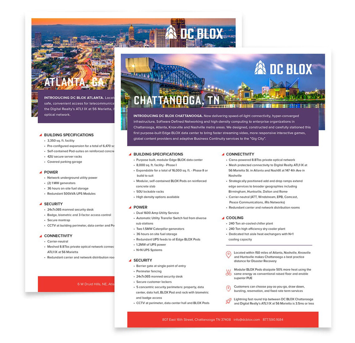 DC Blox data center sheets collateral