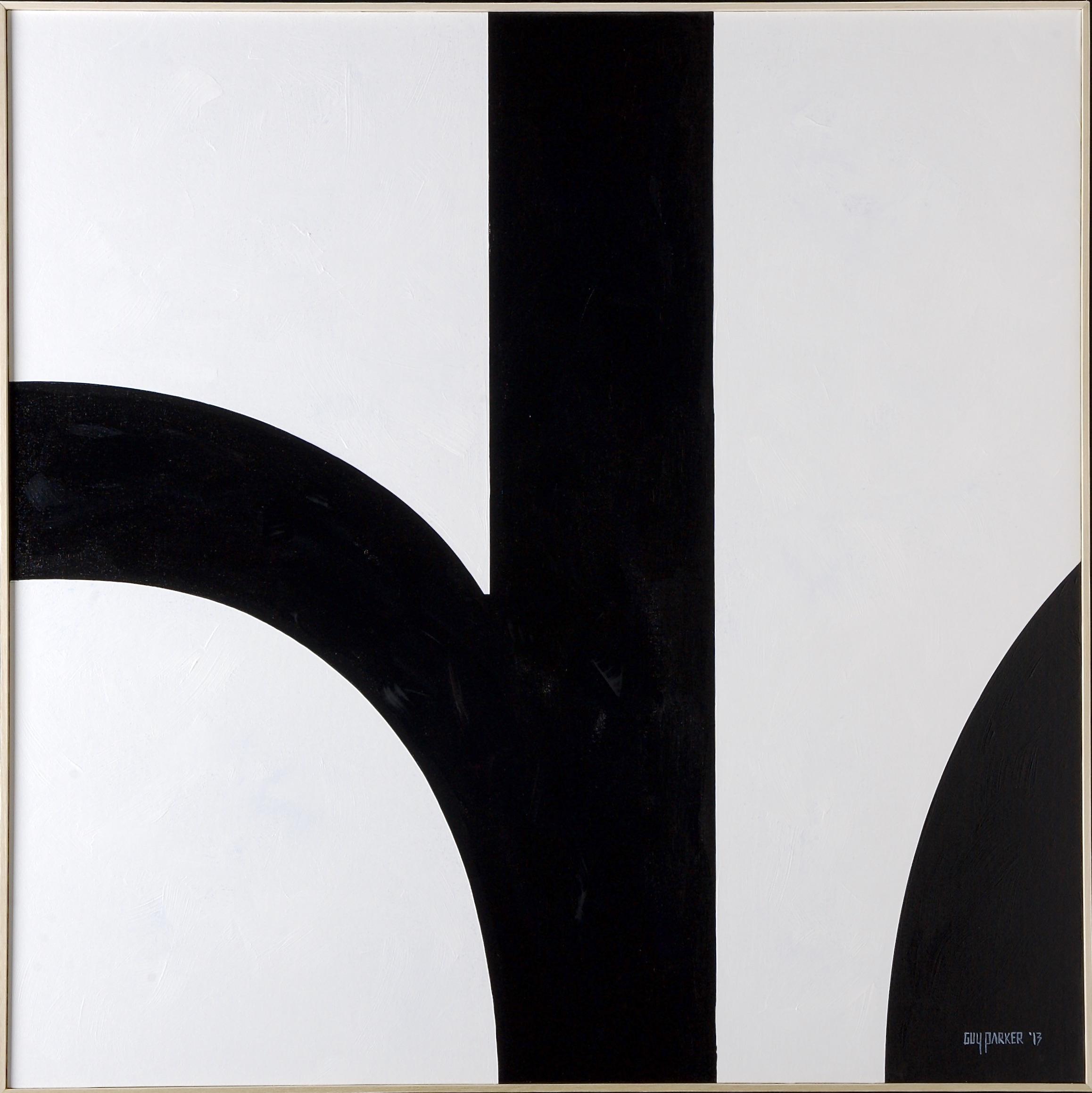 """Letters """"de"""" acrylic on canvas board 40x40"""