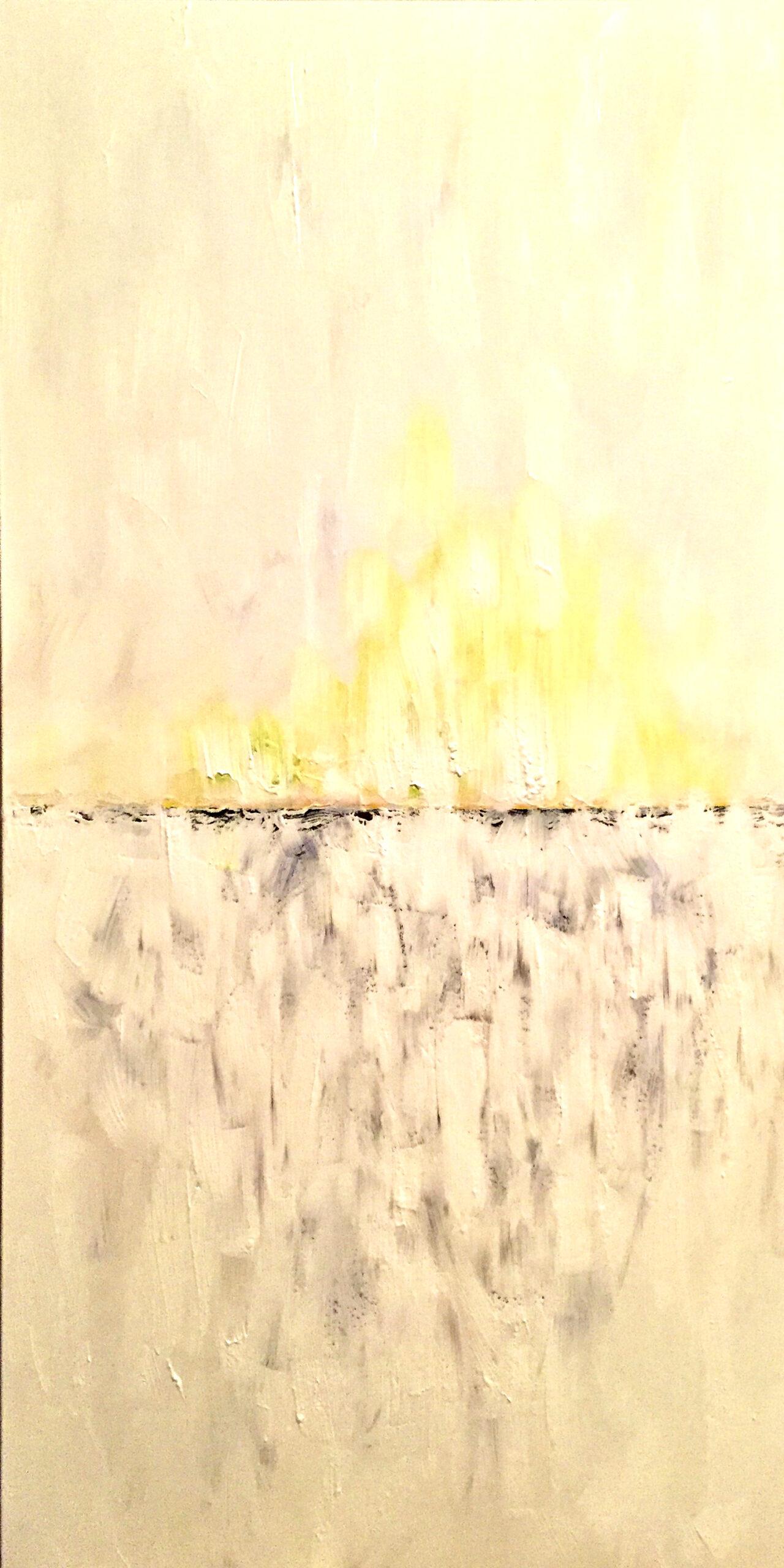"""Horizon 1"" acrylic on canvas 24x48"